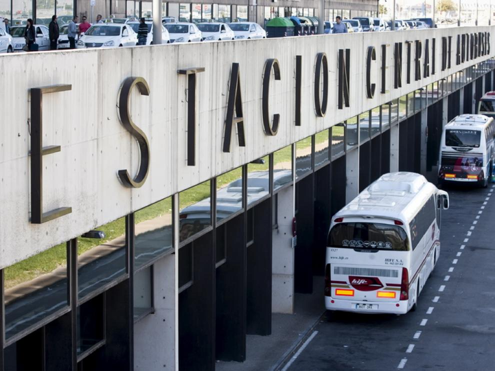 Autobuses en la Estación Delicias