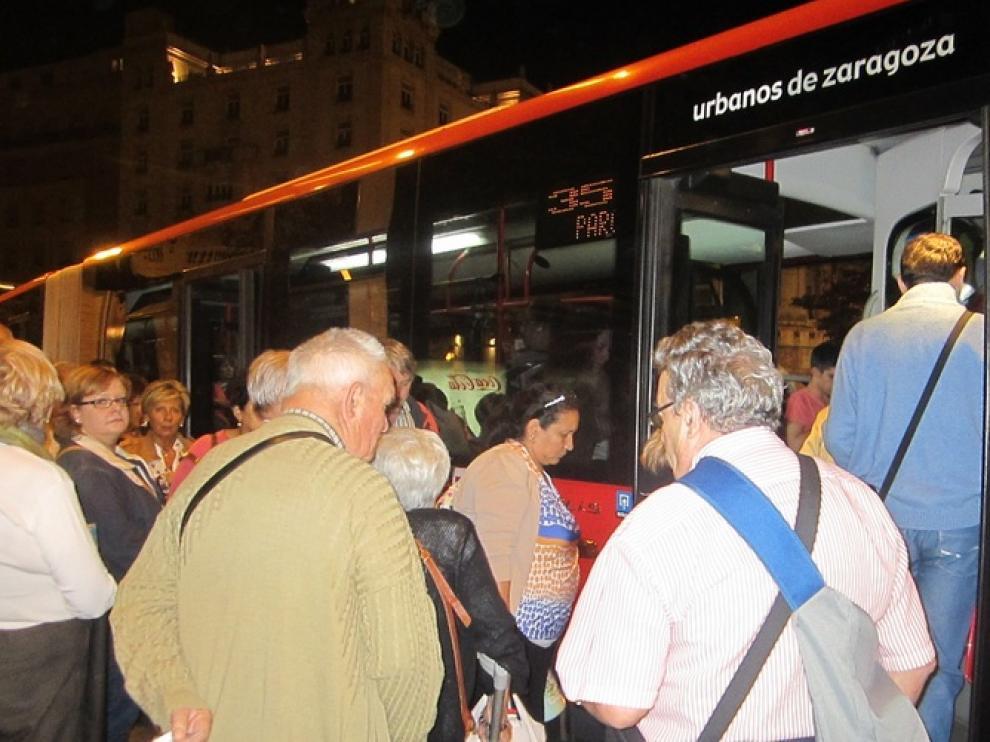Huelga en el bus urbano