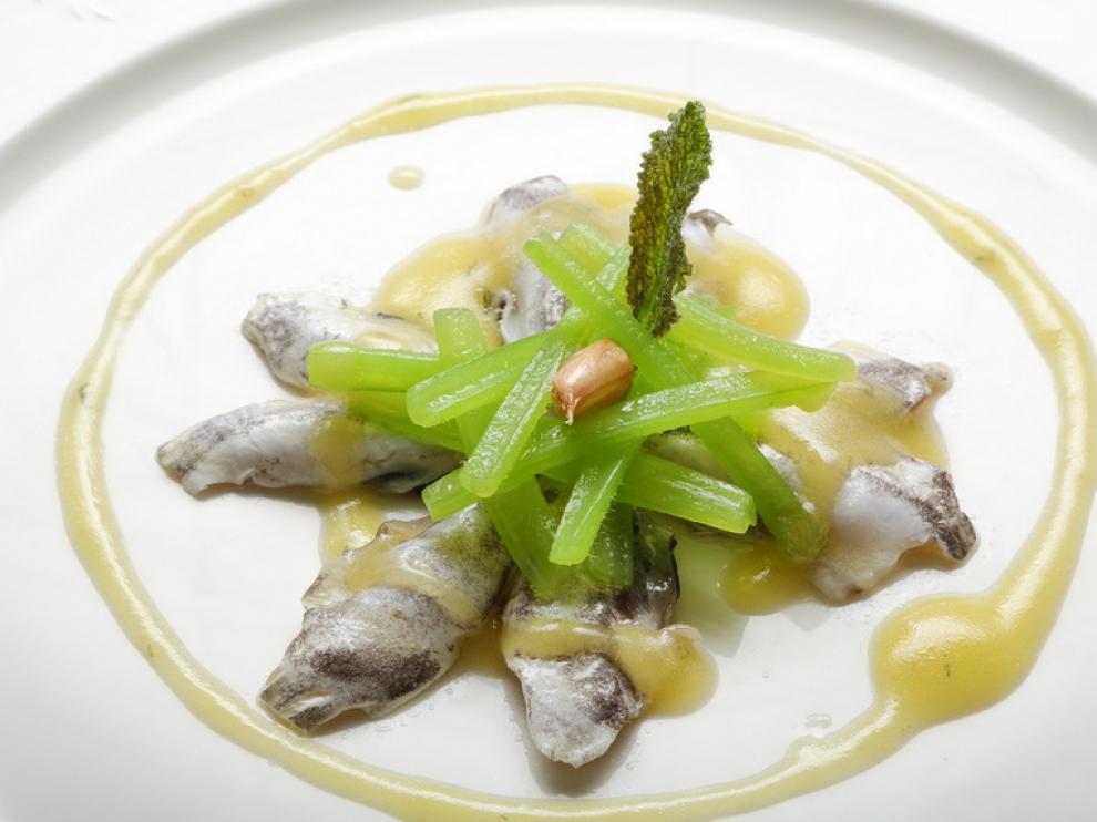 Cocochas y borrajas en su pilpil, del restaurante Guetaria de Zaragoza