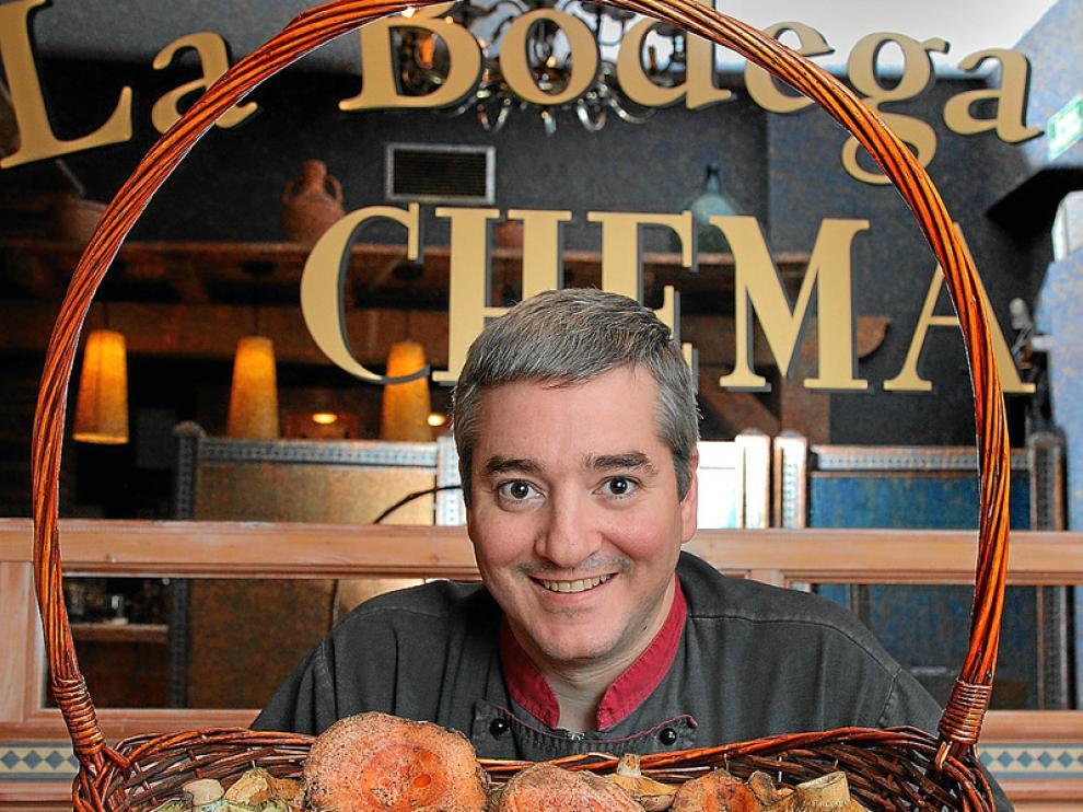 Carlos Ceperuelo, gran experto de la cocina de las setas