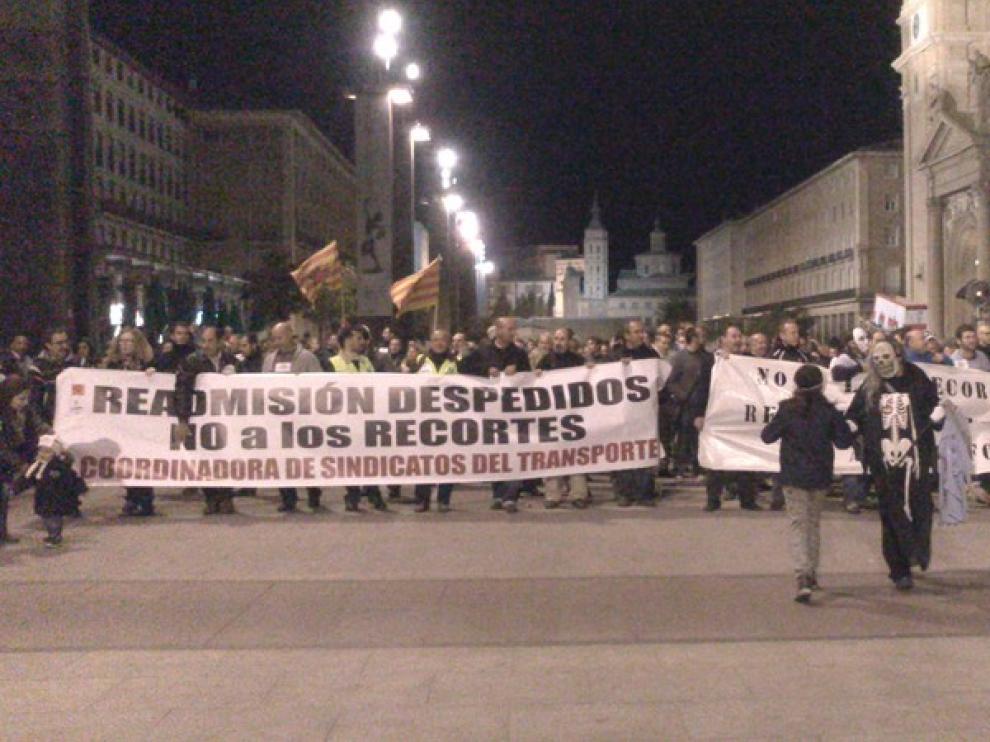 Protesta de los trabajadores de AUZ