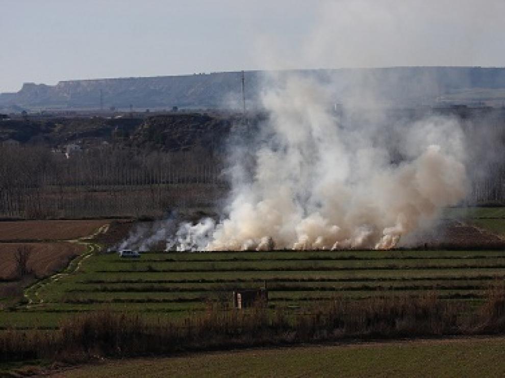 Imagen de una quema agrícola