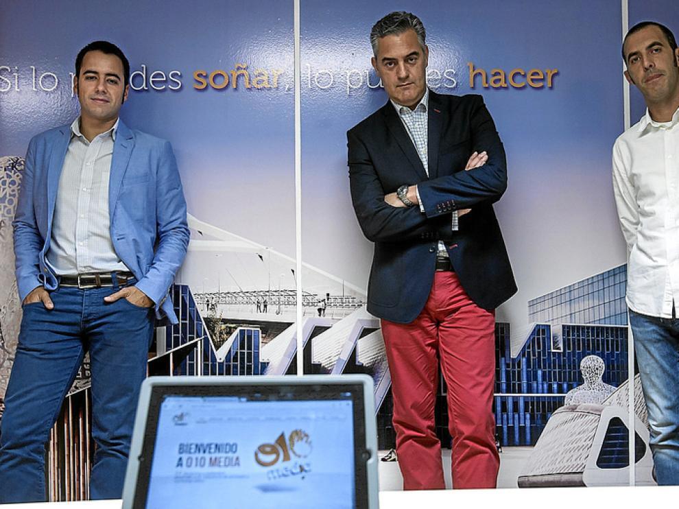 Alfonso Bueno, José Ramón Arévalo y David Navas, los socios de o10 Media