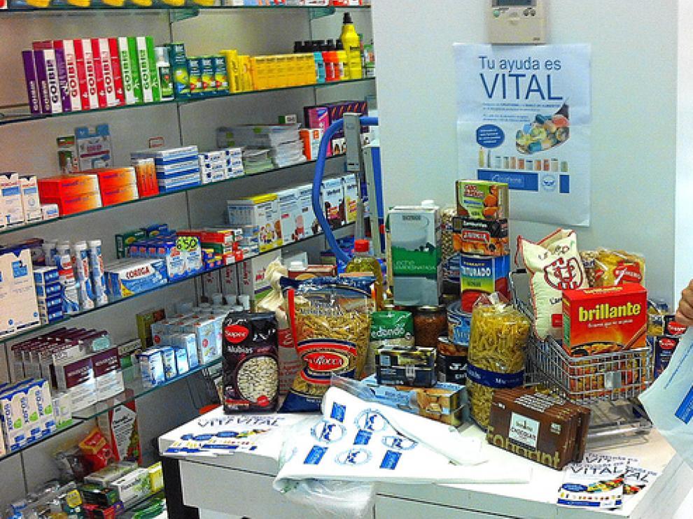 Una de las farmacias de Zaragoza que han participado en la campaña de Cruzfarma y Novaltia