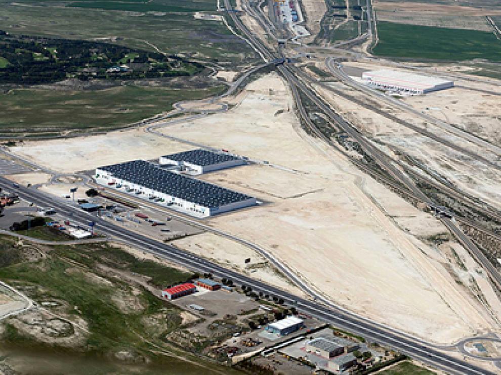 Vista aérea del complejo de Plaza
