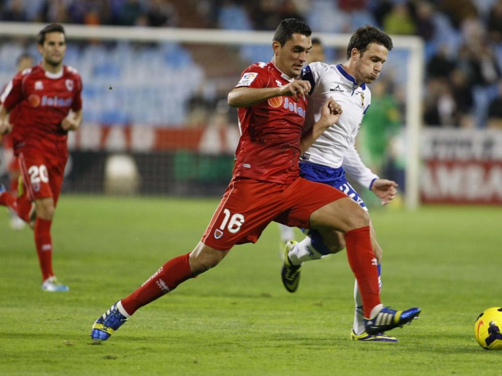 Partido de Segunda División entre el Real Zaragoza y el Numancia en La Romareda