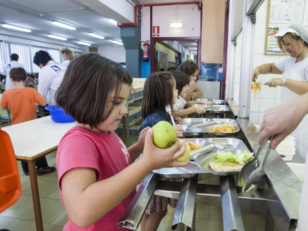 Imagen de un comedor escolar en Zaragoza