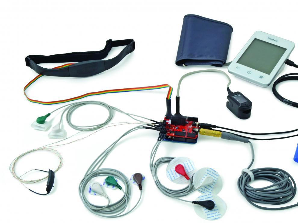 El aparato tiene 10 sensores para medir distintos parámetros.