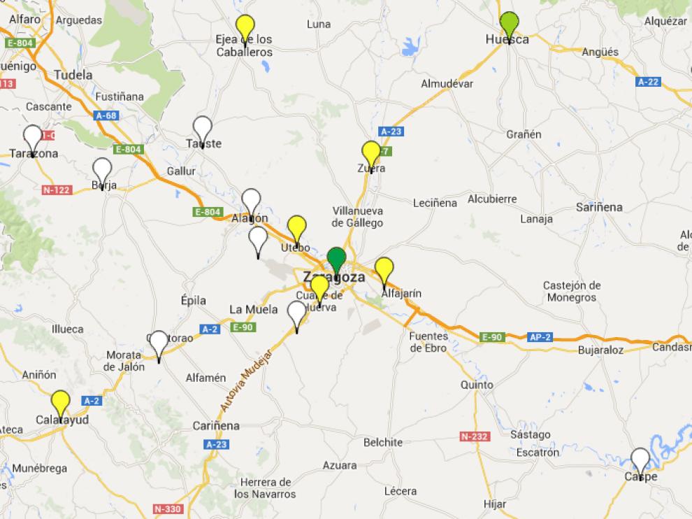 El Mapa Infoparticip@ muestra la cantidad de información que ofrece cada ayuntamiento.