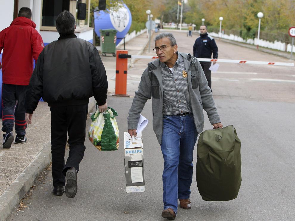 El grapo Jaime Simón, a su salida de prisión