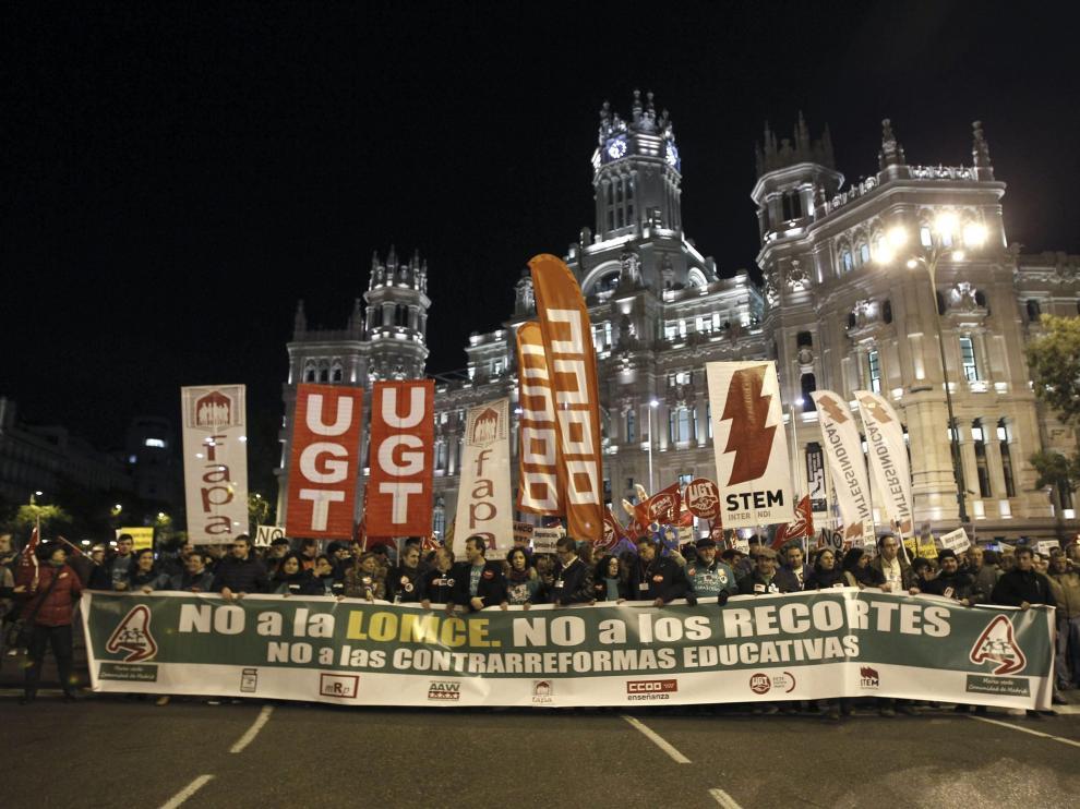 Protestas contra la Lomce en Madrid
