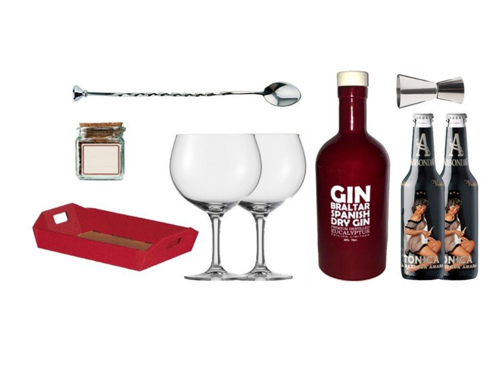 La  'Cesta Gin Tonic' incluye un lote completo para preparar estos combinados en casa