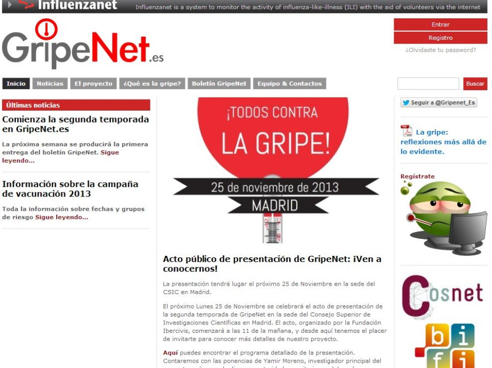 La plataforma GripeNet.es nació en Aragón, de la mano de un grupo de expertos de la Universidad de Zaragoza
