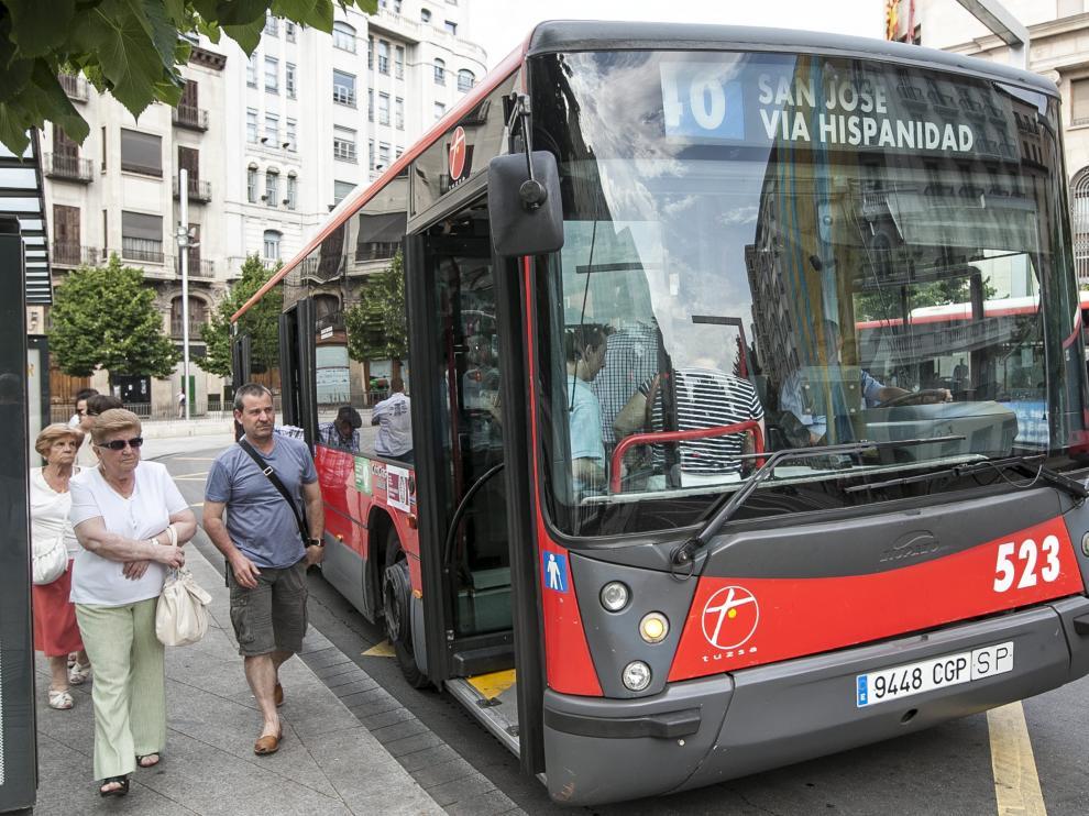 Imagen de archivo del autobús número 40, en la plaza de España