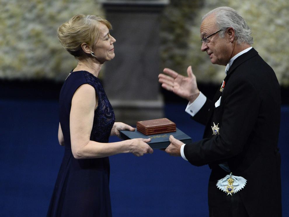 La hija de Alice Munro recogió el premio Nobel de Literatura otorgado a su madre
