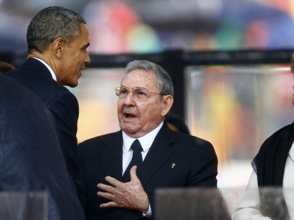 Obama y Castro este martes en Sudáfrica