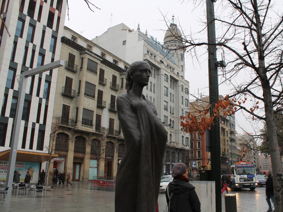 Esculturas en la Plaza de España