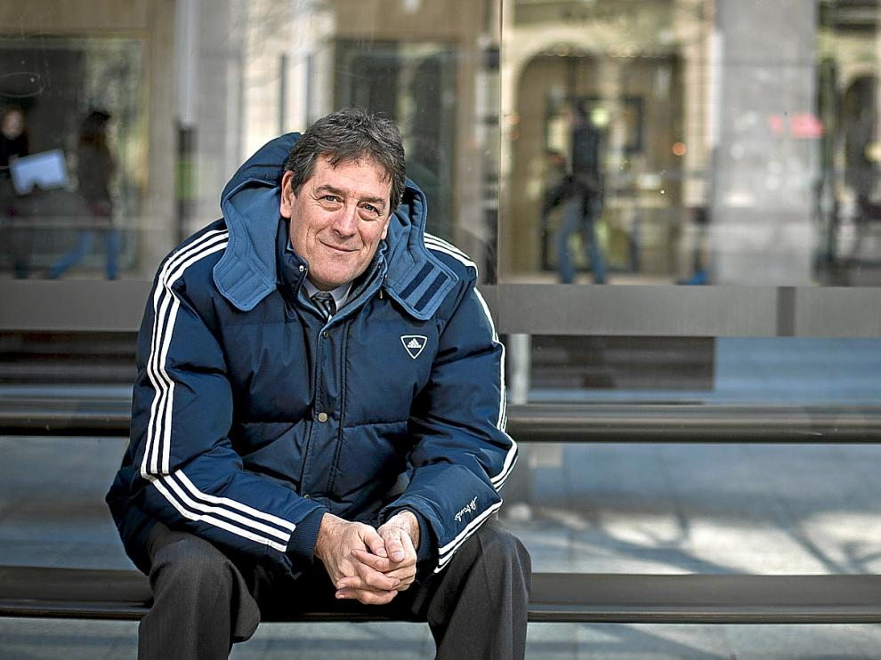 Fernando Arcega, en el Paseo de la Independencia de Zaragoza