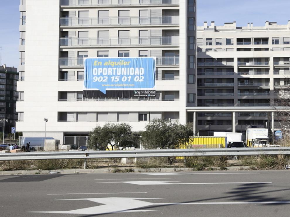 Un bloque de viviendas en Zaragoza
