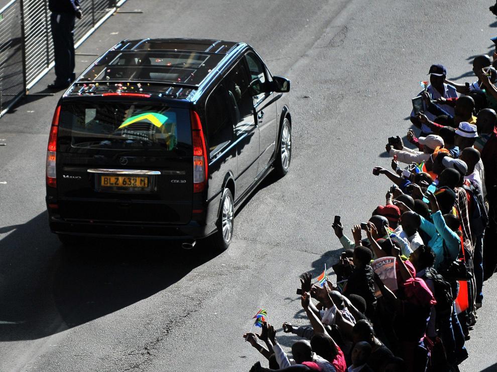Cortejo fúnebre en Pretoria