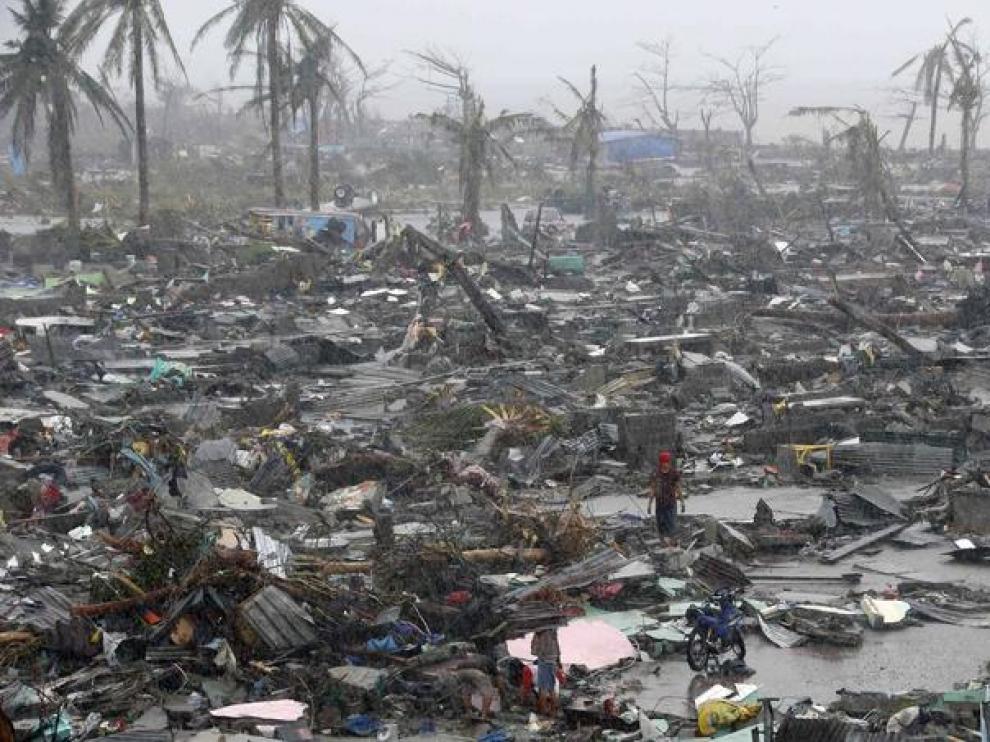 Un tifón arrasa Filipinas