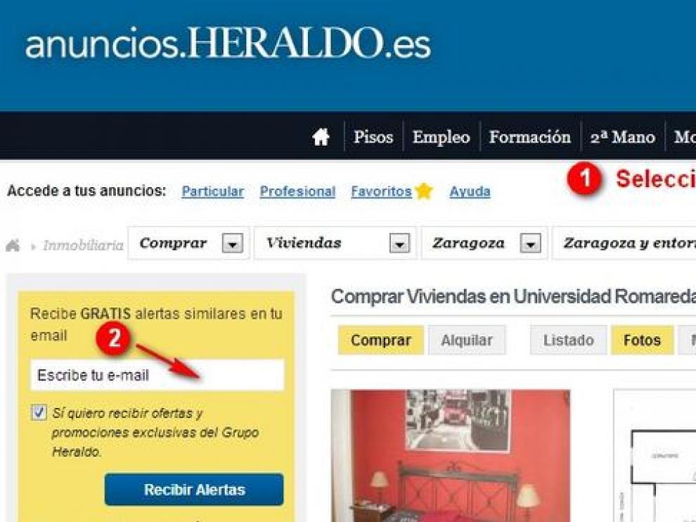 Anuncios.heraldo.es ha puesto en marcha un servicio de alertas automáticas