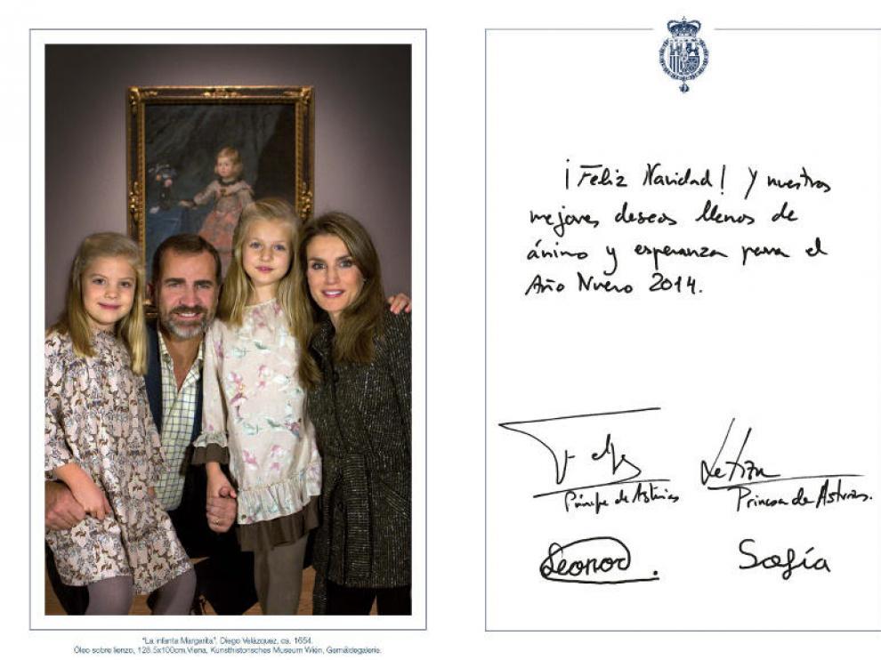 Felicitación de los Príncipes de Asturias