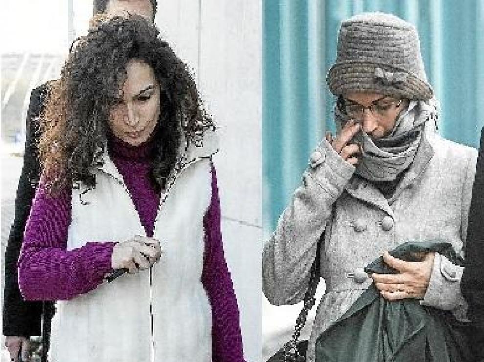 Las hermanas Patricia y Carolina García, tras prestar declaración el jueves