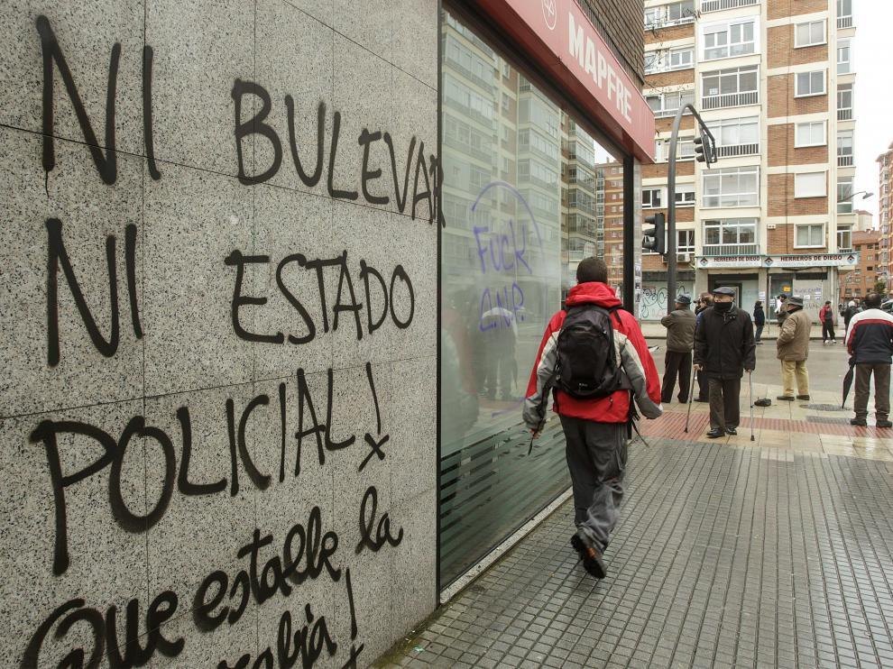 Los vecinos rechazan las obras del bulevar de Burgos