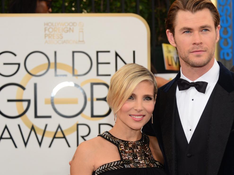 Elsa Pataki y su marido Chris Hemsworth