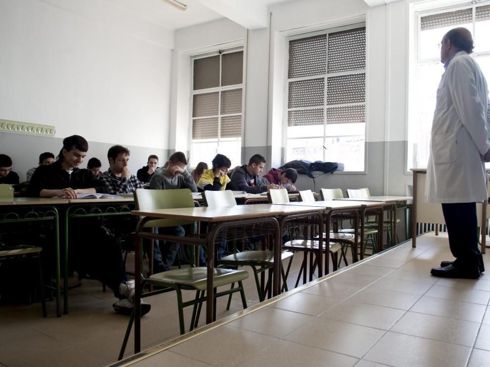 Una clase de Secundaria en un instituto de Zaragoza