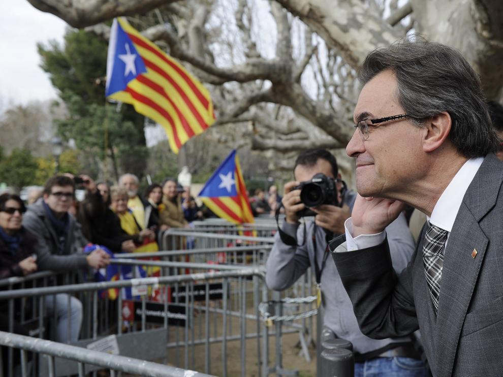 Artur Mas muestra su entusiasmo tras al votación