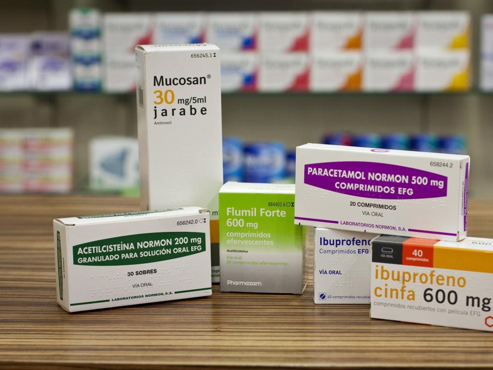Algunos de los medicamentos usados contra el catarro