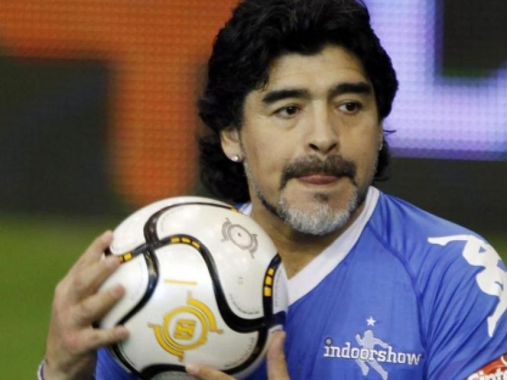 Diego Armando Maradona, foto de archivo.