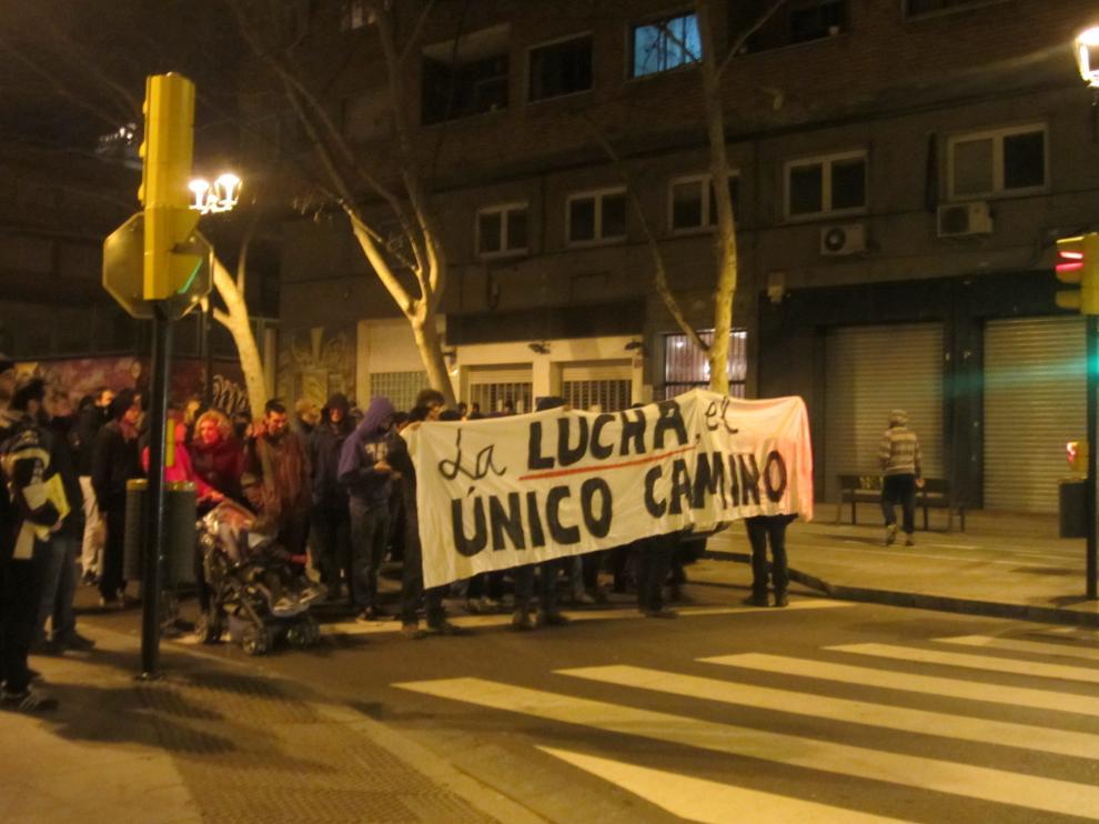 Manifestación en el Centro de Zaragoza