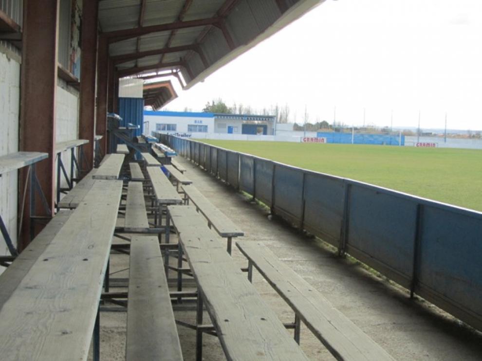 Campo de fútbol San Miguel donde entrena la UD Casetas