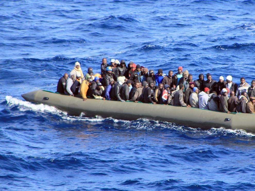 Una de las barcadas interceptadas