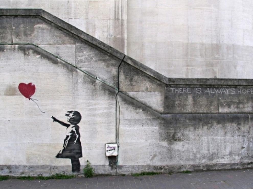 'Niña con el globo' es una de las obras más famosas de Banksy.