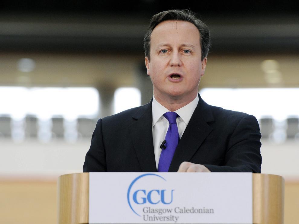 Cameron, durante su discurso en la Villa Olímpica de Londres