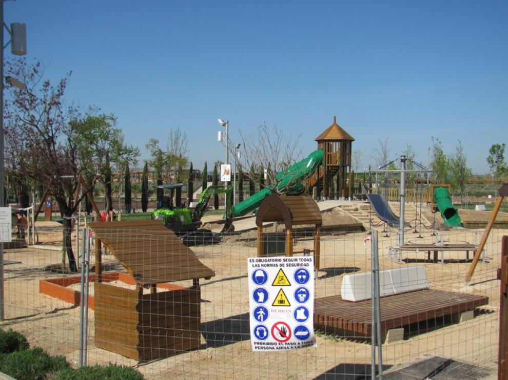 Foto de archivo. Zona infantil del Parque del Agua de Zaragoza