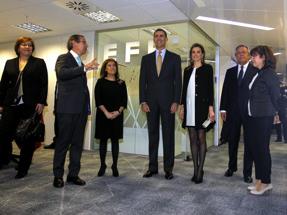 Los Príncipes de Asturias en la Agencia EFE