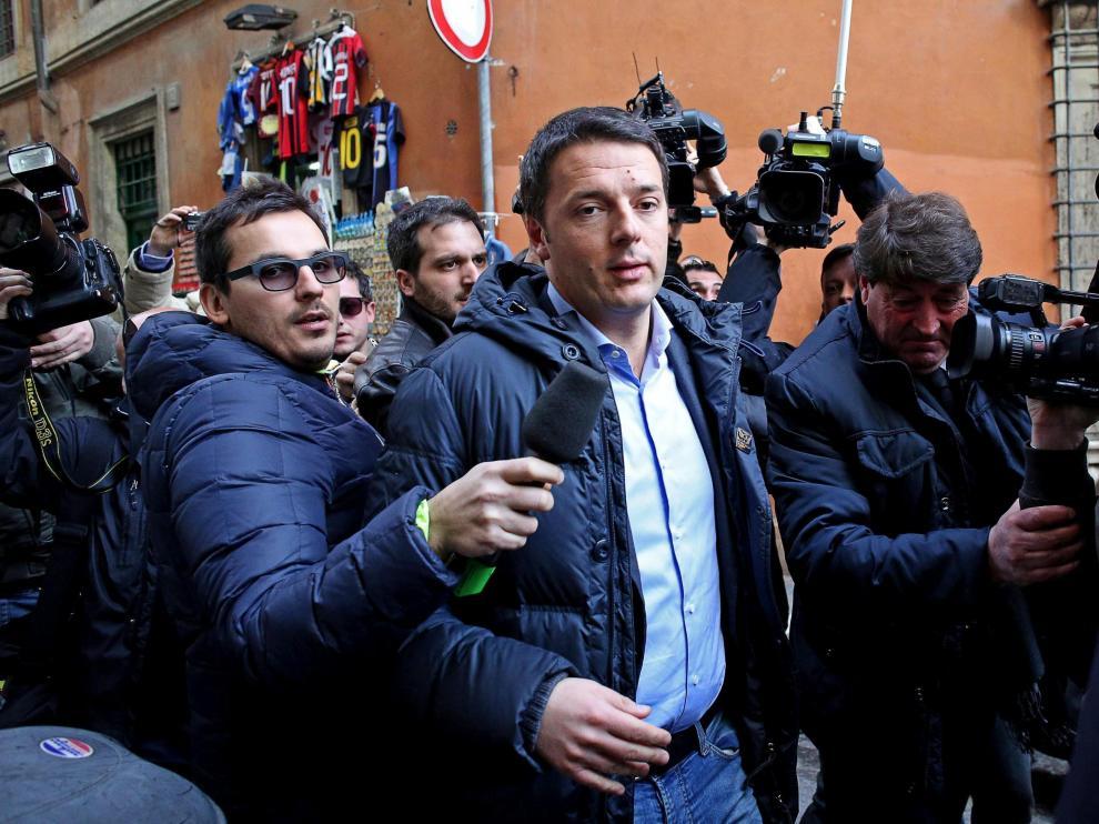 El líder del Partido Demócrata Matteo Renzi