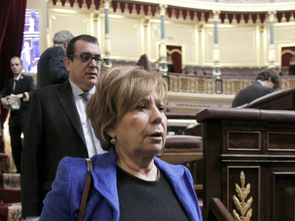 Celia Villalobos, este jueves en el Congreso de los Diputados