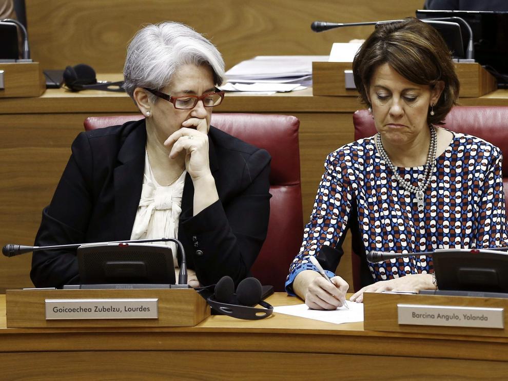 Barcina, con su vicepresidenta Lourdes Goicoechea