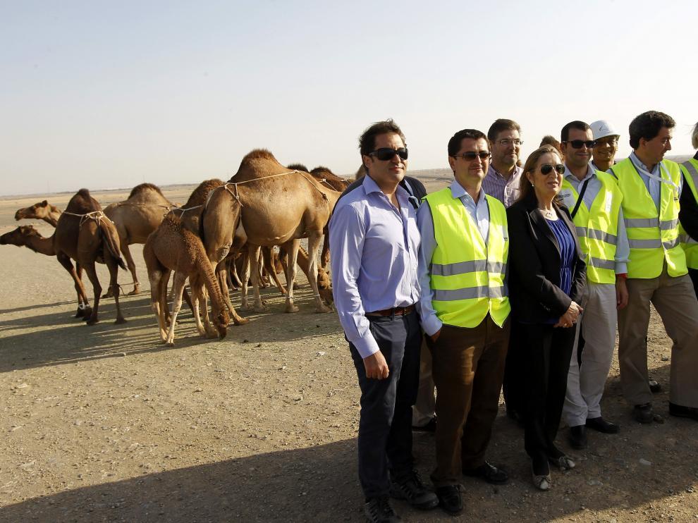 Una visita política al AVE a La Meca.