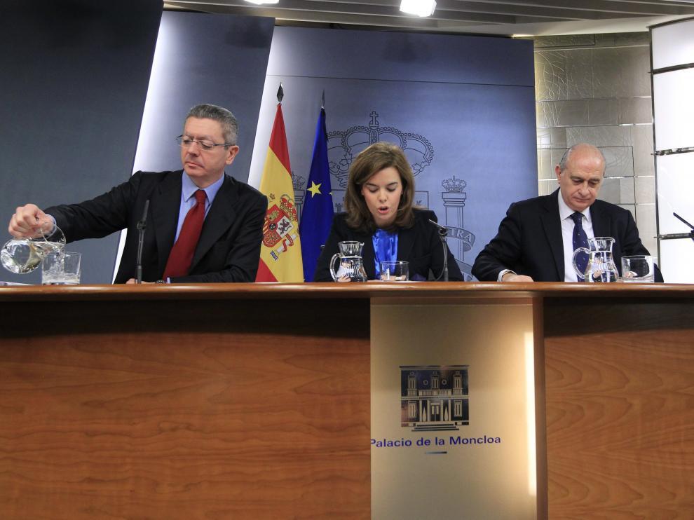 Rueda de prensa del pasado Consejo de Ministros
