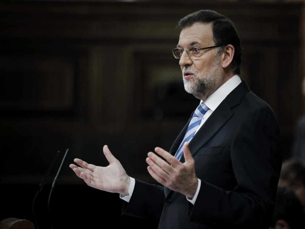 Rajoy durante su discurso
