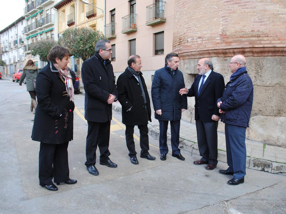 Visita del presidente de la DPZ a Calatayud