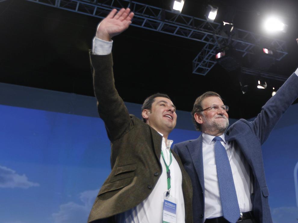 Juan Manuel Moreno y Mariano Rajoy