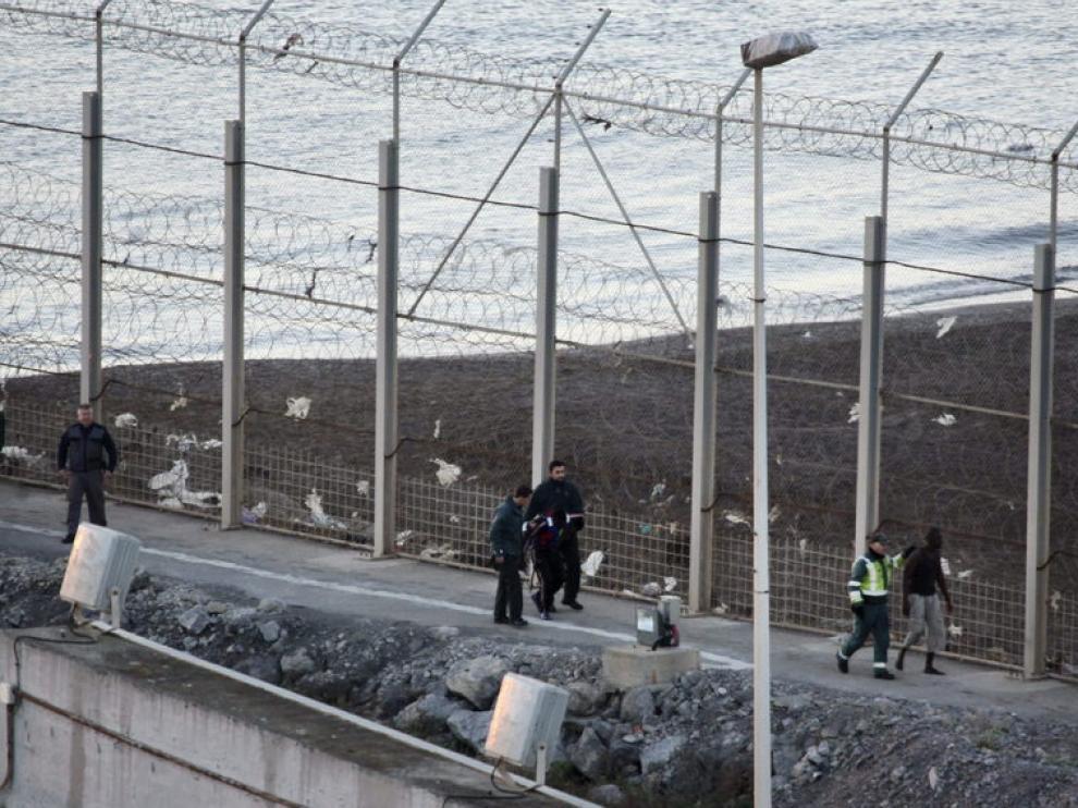 Imagen de archivo de la valla de Ceuta.